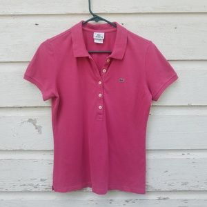 Lacoste Dark Pink Polo Shirt